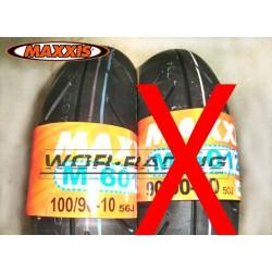 "Neumatico MAXXIS R1 - 100/90-10"" - supermotard Pitbike y GP."