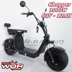 Patinete Chopper 1000w 60v HARLEY + Suspension -LITIO-