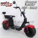 Patinete Chopper 1500w 60v HARLEY + Suspension -LITIO-