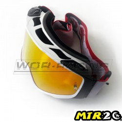 Gafas de Motocross MTR2 - LINES (Blanco-Rojo)