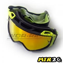 Gafas de Motocross MTR2 - LINES (Griss-Amarillo)