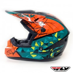 Casco Infantil FLY Kinetic CRUX -verde-