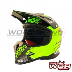Casco INFANTIL SHIRO MX-308 Alien Nation-amarillo