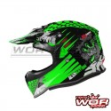 Casco INFANTIL SHIRO MX-308 Alien Nation-verde
