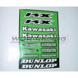 Kit Adhesivos pegatinas Kawasaki -Hoja A4-